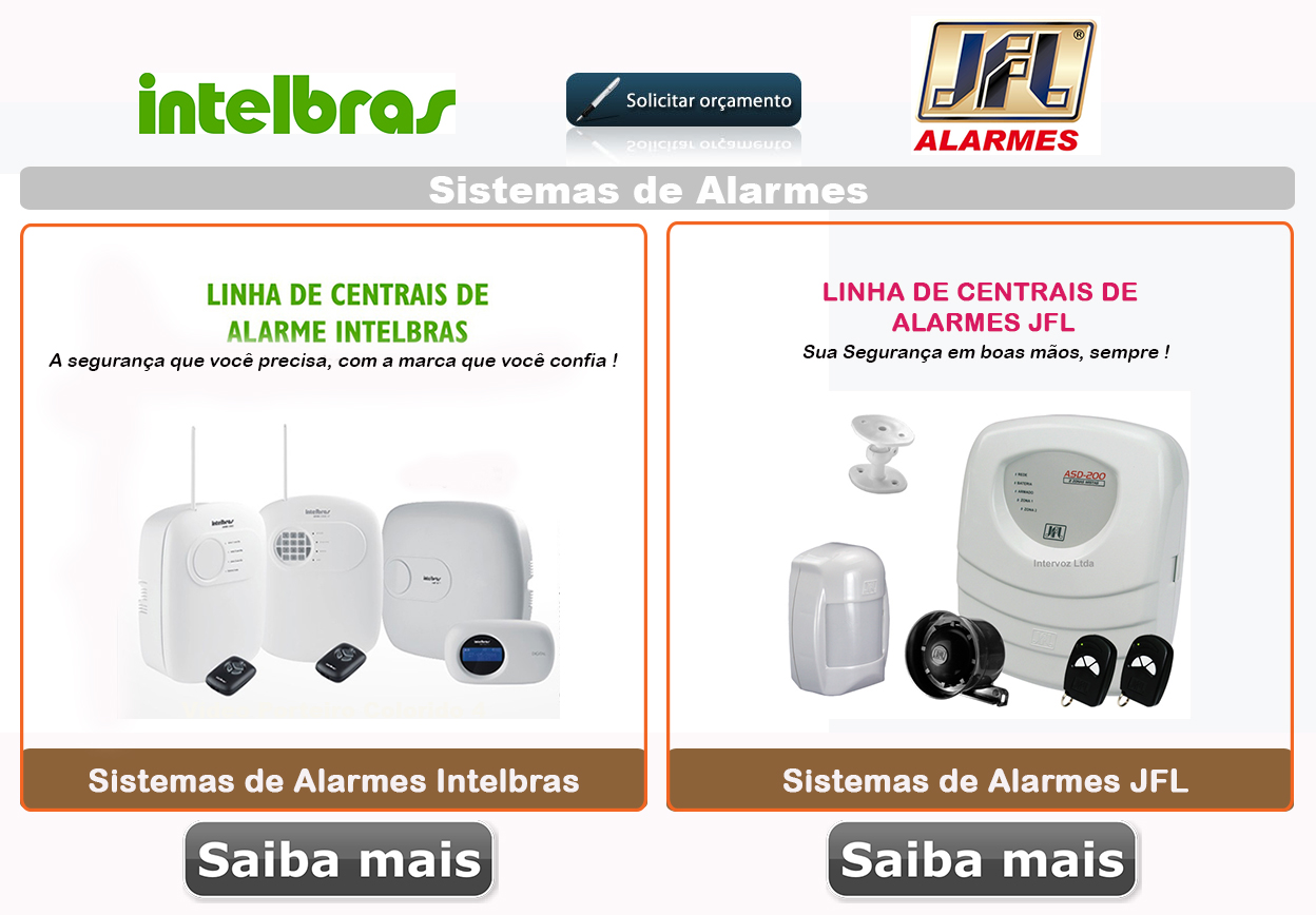 Alarmes - intelbras - jfl - Ligue: (11) 2011-4286